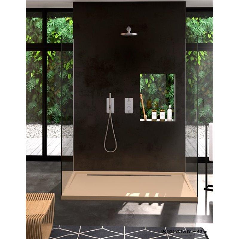 receveur de douche texture pierre canto lat ral habitium. Black Bedroom Furniture Sets. Home Design Ideas