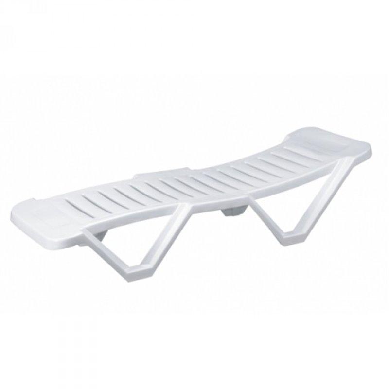 Lot de 2 chaises longues blanches Costa Brava Resol