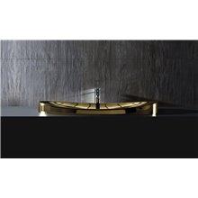 Vasque encastrée dorée Gala Klea 90x40