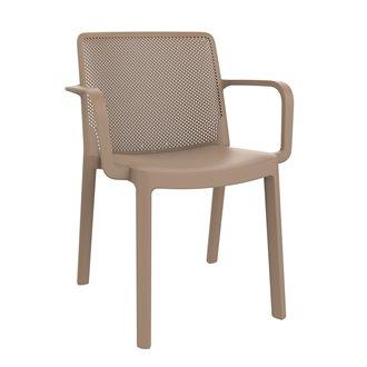 Lot de 4 chaises sable avec accoudoirs Fresh Resol
