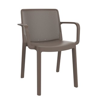 Lot de 4 chaises chocolat avec accoudoirs Fresh Resol