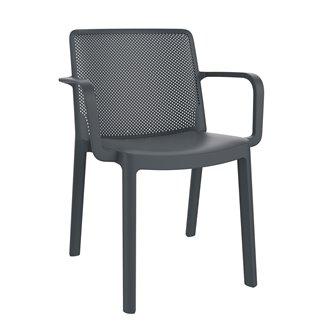 Lot de 4 chaises gris foncé avec accoudoirs Fresh Resol