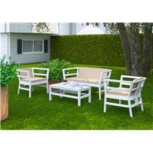 Salon de jardin blanc CLIC-CLAC de Resol