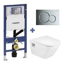 Pack WC suspendu GAP Roca et réservoir Geberit...