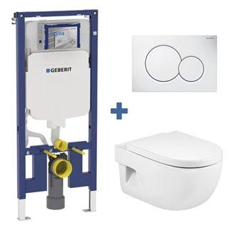 Pack WC suspendu MERIDIAN Roca et réservoir Geberit DUOFIX 8cm