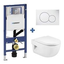 Pack WC suspendu MERIDIAN Roca et réservoir Geberit DUOFIX 12cm