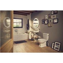 WC Rimless réservoir bas Carmen 67 cm Roca