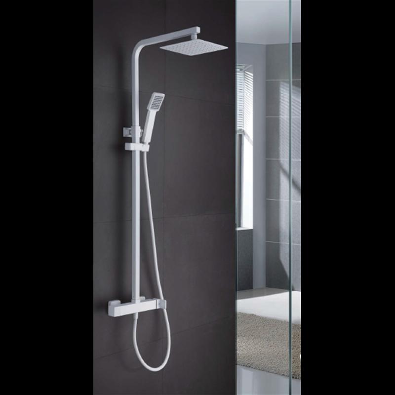 colonne de douche blanche imex fidji bdf016 bl habitium. Black Bedroom Furniture Sets. Home Design Ideas
