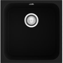 Évier d'1 bac noir lisse 44 x 44,5 cm Gandia POALGI
