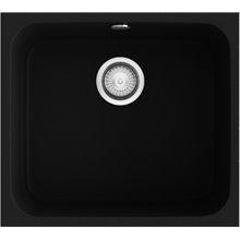 Évier d'1 bac noir lisse 54 x 44,5 cm Gandia POALGI