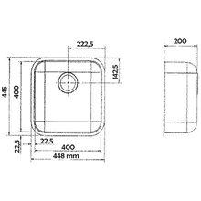 Évier spécial IB 40x40 carré Galindo