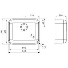 Évier spécial IB 50X40 rectangulaire Galindo