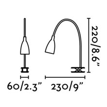 Applique pince LOKE-2 LED chromée