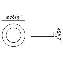 Spot encastrable NÉON-R blanc et rond Ø7,8 cm Faro