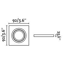 Spot encastrable RADÓN-C blanc et carré 9,2 x...