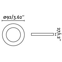 Spot encastrable RADÓN-R blanc et ronde Ø9,2 cm...