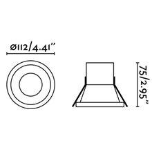 Spot encastrable SON-1 LED blanc et ronde Ø11,2...