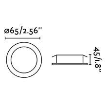 Spot encastrable KOI LED blanc et rond Ø9 cm Faro