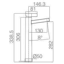 Robinet mitigeur à bec haut de lavabo chromé/blanc Imex Elbe