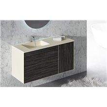 Meuble avec plan vasque et miroir en métal ARKANSAS DOCCIA