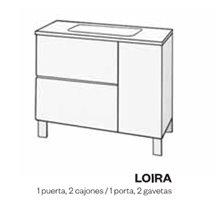 Meuble et plan vasque en phénol modèle LOIRA DOCCIA