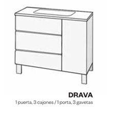 Meuble et plan vasque en phénol DRAVA Doccia