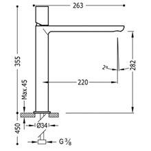 Robinet de lavabo Blanc L TUB TRES LOFT