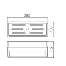 Étagère en PVC blanc rectangulaire Imex