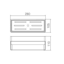 Étagère en PVC noir mat rectangulaire Imex