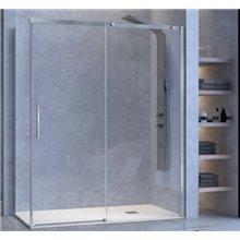 Pare-douche avec porte coulissante et latéral fixe pour douche LU102+ LU103 Kassandra