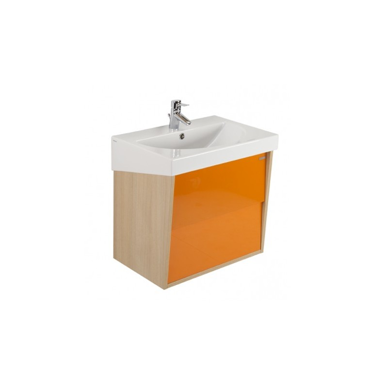 Meuble URBY 80 orange chêne Sanindusa