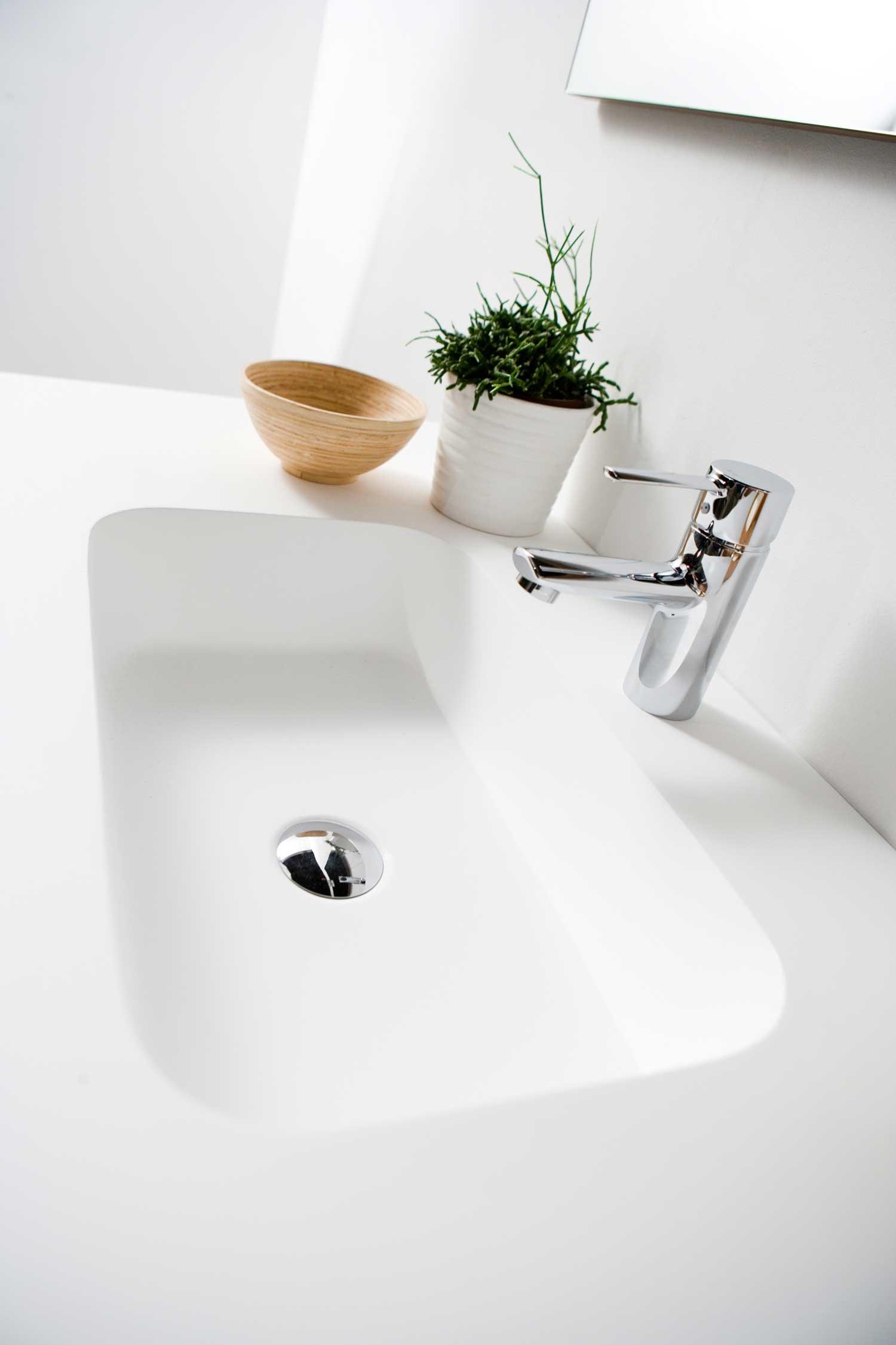 Plan Vasque Sur Mesure plan vasque sur mesure (1 bac) gel coat 2 cm b10