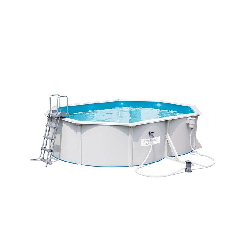 piscine en kit en acier hydrium oval 500 bestway 56583. Black Bedroom Furniture Sets. Home Design Ideas
