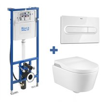 Ensemble Smart Toilet In-Wash suspendu Inspira ROCA
