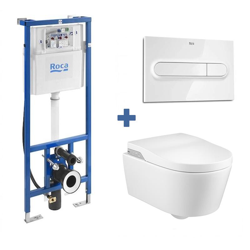 Ensemble Smart Toilet In-Wash suspendu Inspira ROCA