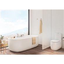 WC Rimless réservoir bas Beige Beyond 70,5 cm Roca