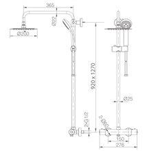 Kit de douche thermostatique Kent IMEX