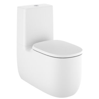 WC Rimless réservoir bas Blanc Mat Beyond 70,5 cm Roca
