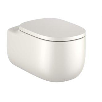 WC Rimless suspendu beige Beyond Roca de 58 cm