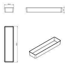 Boîte de rangement rectangulaire Global container COSMIC