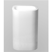 Lavabo sur colonne Olympe H90 Resigres