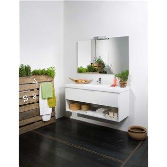 Meuble Life 1 tiroir et 1 étagère avec plan vasque B10