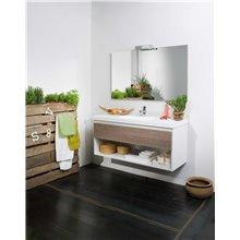 Meuble Life 1 tiroir et 1 étagère avec lavabo -...