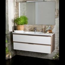 Meuble Life 2 tiroirs sans plan vasque B10