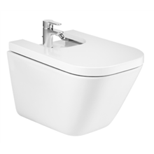 Bidet suspendu avec fixations cachées The Gap Square Roca