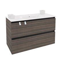 Meuble rectangulaire frêne avec plan vasque en porcelaine 100 cm B-Box Bath+
