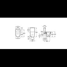 WC réservoir bas Rimless Inspira Round compact 60 cm Roca