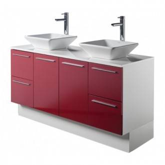 Meuble TWIN PLUS rouge Sanindusa