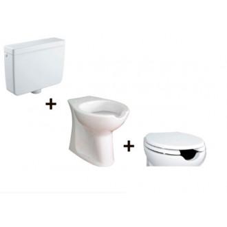 WC complet réservoir haut Accessible (ouverture frontale)