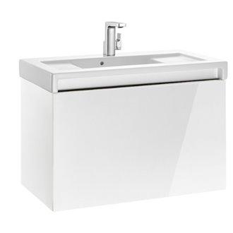 Meuble avec plan vasque 90 cm blanc Stratum-N Roca